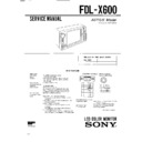 Sony FDL-X600 Service Manual