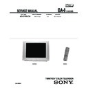 Sony KD-27FS130 Service Manual
