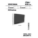 Sony KD-28DX200U Service Manual