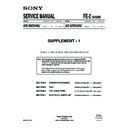 Sony KD-28DX40U (serv.man2) Service Manual