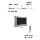 Sony KD-28DX40U Service Manual