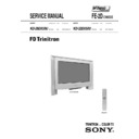 Sony KD-28DX50U Service Manual
