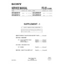 Sony KD-28DX51E (serv.man2) Service Manual