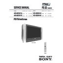 Sony KD-28DX51E Service Manual