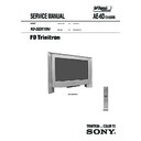 Sony KD-32DX150U Service Manual