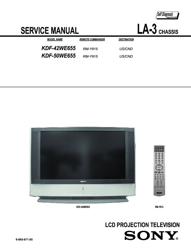 sony kdf 42we655 kdf 50we655 service manual free download rh servicemanuals us sony grand wega kdf-50we655 lamp sony wega kdf-50we655 lamp replacement instructions