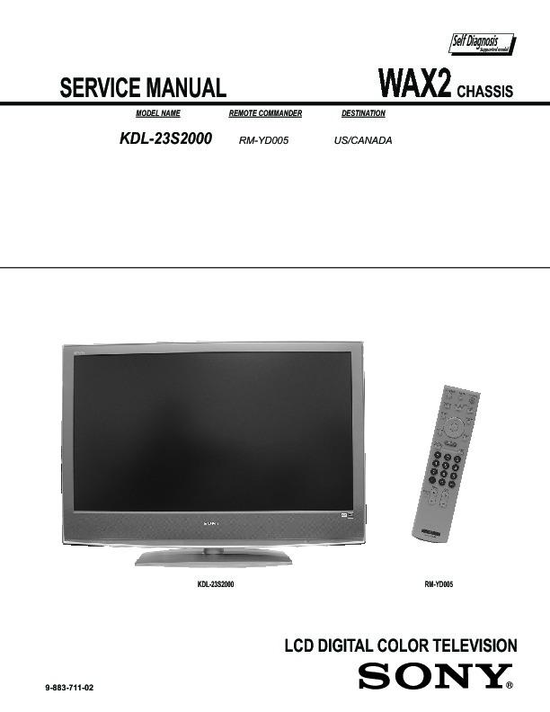 sony tv service manuals page 10 rh servicemanuals us Sony KDL 46 Sony KDL 55W802A