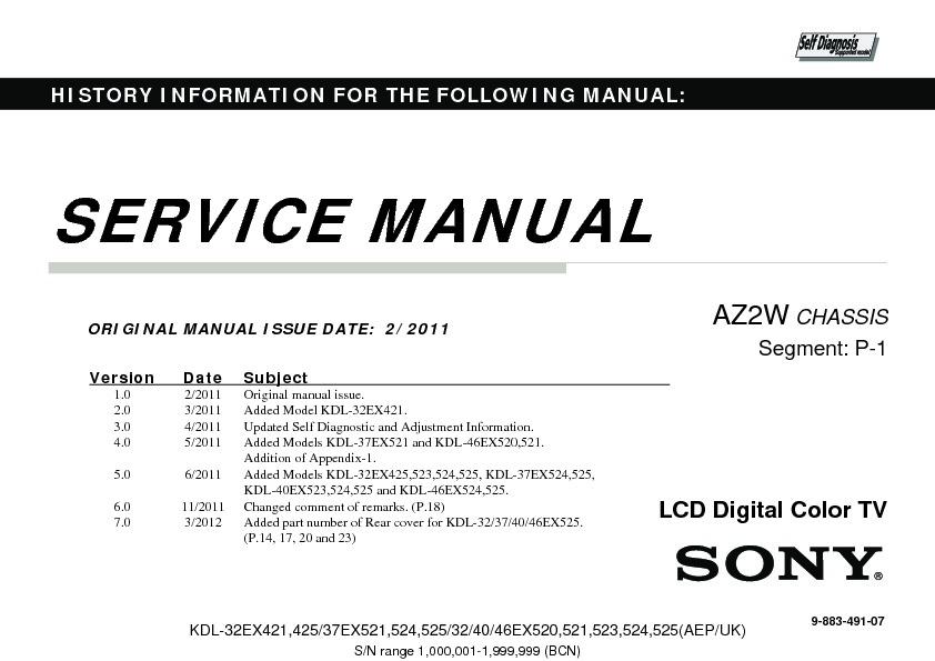 sony bravia 32 manual download