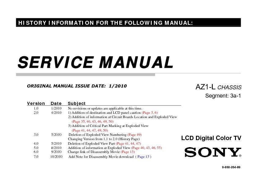 sony kdl 32ex500 kdl 40ex500 kdl 46ex500 kdl 55ex500 service rh servicemanuals us