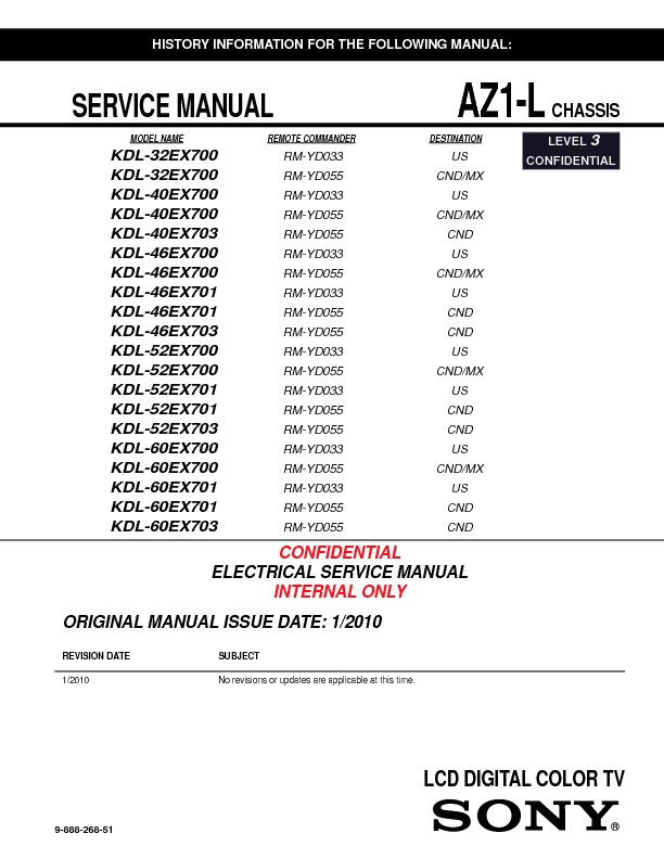 sony kdl 32ex700 kdl 40ex700 kdl 40ex703 kdl 46ex700 kdl 46ex701 rh servicemanuals us Sony KDL- 55W802A sony bravia kdl-52ex700 manual