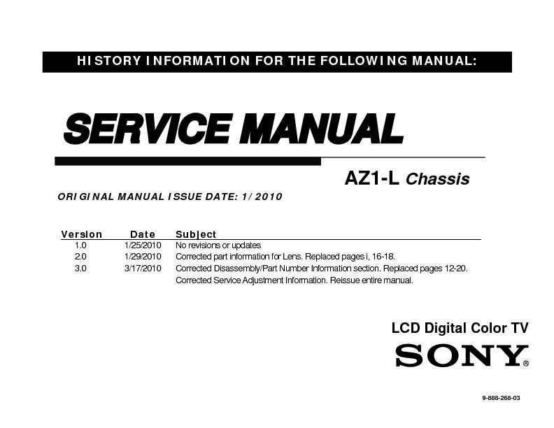 sony kdl 40ex700 kdl 52ex700 kdl 60ex700 service manual free rh servicemanuals us Sony KDL- 55W802A Sony KDL 42Ex440