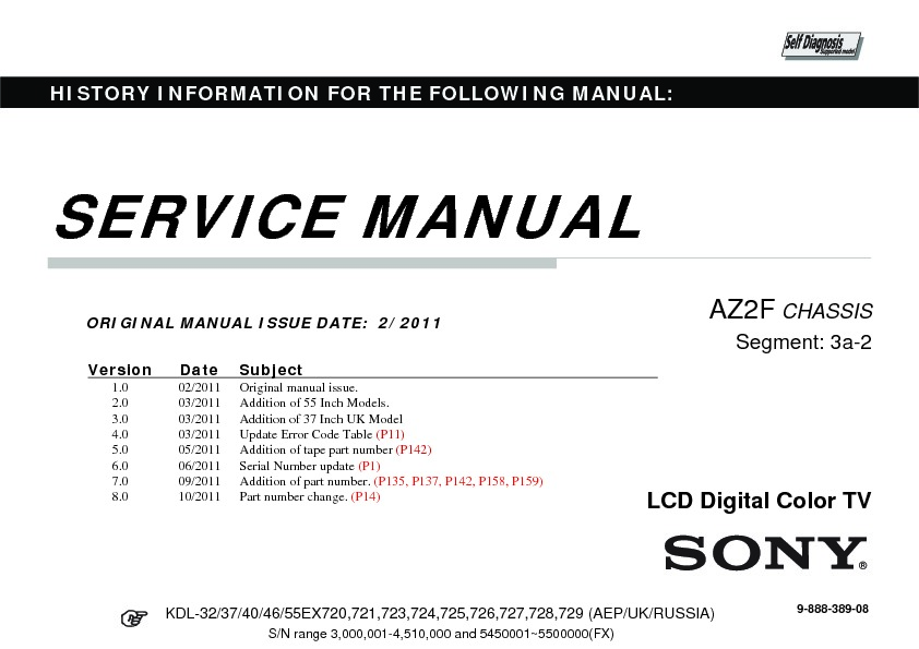 Sony kdl 32ex720 kdl 32ex723 kdl 40ex720 kdl 40ex723 for Savio 724 ex manuale