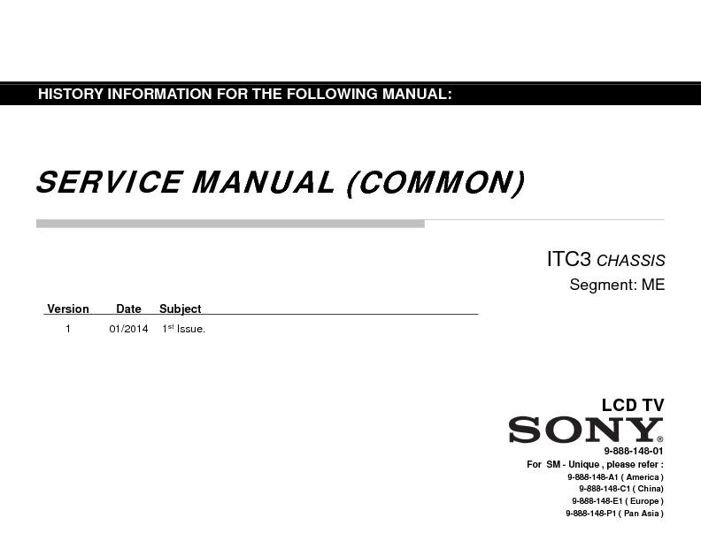 sony kdl-32r435b service manual