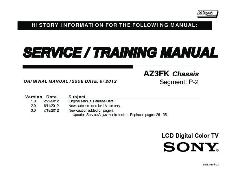 sony kdl 40ex640 kdl 46ex640 kdl 55ex640 service manual free rh servicemanuals us Sony BRAVIA VGA Sony Bravia TV HDMI Ports