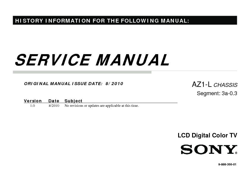 sony kdl-40ex710  kdl-46ex710  kdl-55ex710 service manual