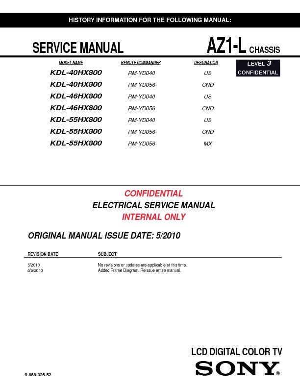sony kdl 46hx800 kdl 55hx800 service manual free download rh servicemanuals us Sony BRAVIA 55-Inch sony bravia kdl-55hx800 service manual