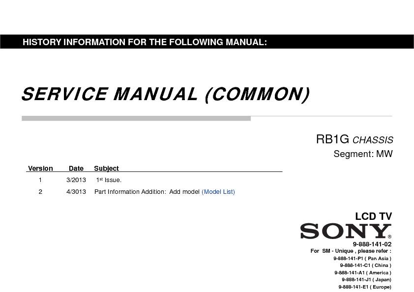 Sony Kdl-47w802a  Kdl-55w802a Service Manual