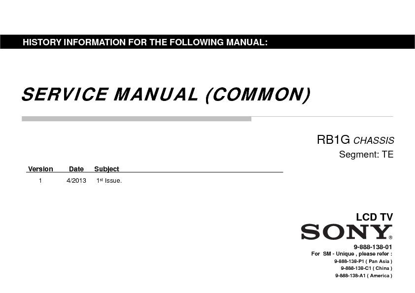 sony kdl-46w955a  kdl-55w955a service manual