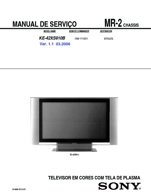 sony ke 42xs910 service manual free download rh servicemanuals us Sony LCD TV Replacement Parts Sony TV Parts Manual