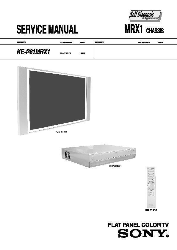 sony ke p61mrx1 service manual free download rh servicemanuals us Sony Smart TV Accessories Sony BRAVIA Flat Screen TV
