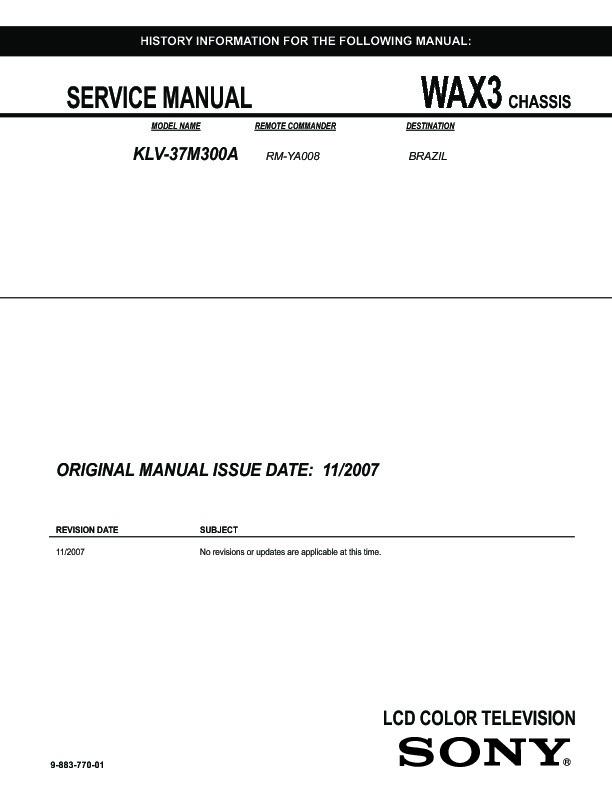sony bravia 32 inch manual pdf