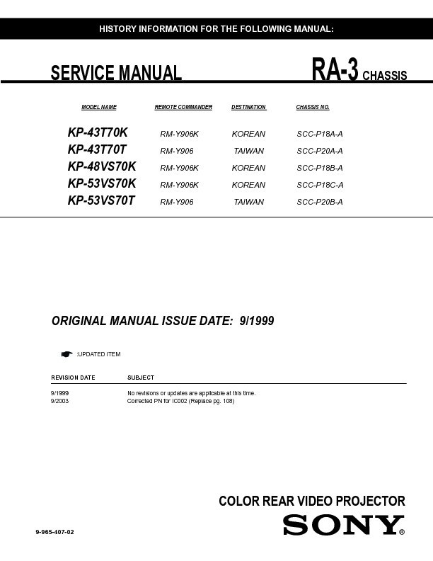 sony kp 43t70 kp 46c70 kp 48s70 kp 53n74 kp 53s70 kp 61s70 rh servicemanuals us JVC KD AVX77 Manual Sony DVD Recorder User Manual