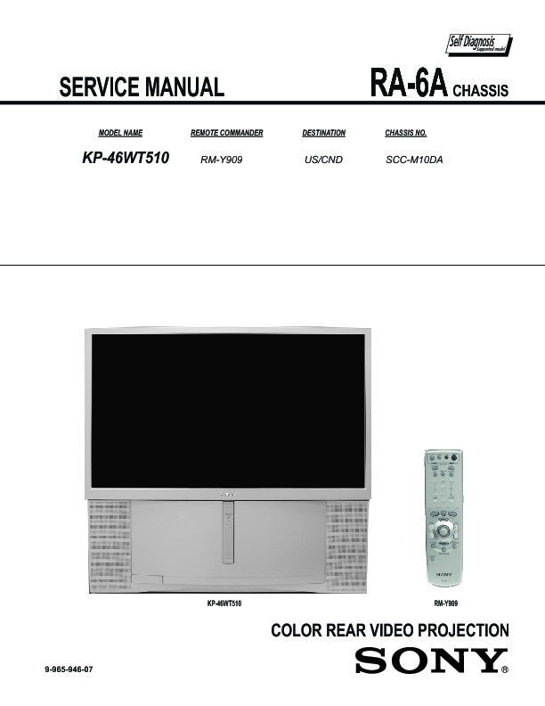 sony kp 46wt510 service manual free download rh servicemanuals us