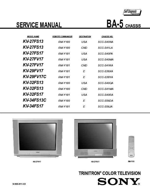 sony kv 27fs13 service manual free download rh servicemanuals us Sony User Manuals Sony DVD Recorder User Manual