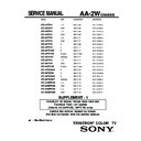 Sony KV-32FS10 (serv.man2) Service Manual