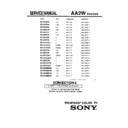 Sony KV-32FS10 (serv.man5) Service Manual