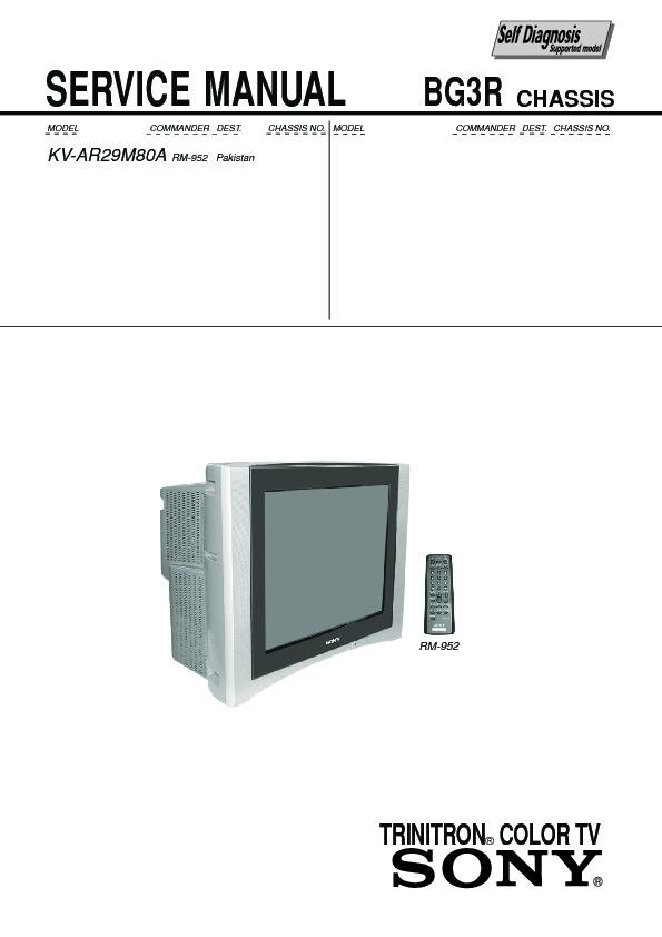 sony kv ar29m80a service manual free download rh servicemanuals us sony trinitron tv user manual sony trinitron wega tv manual
