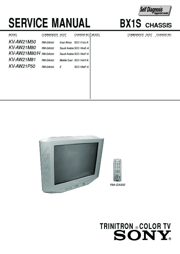 sony kv aw21m50 service manual free download rh servicemanuals us Stt Hay STT Fusion