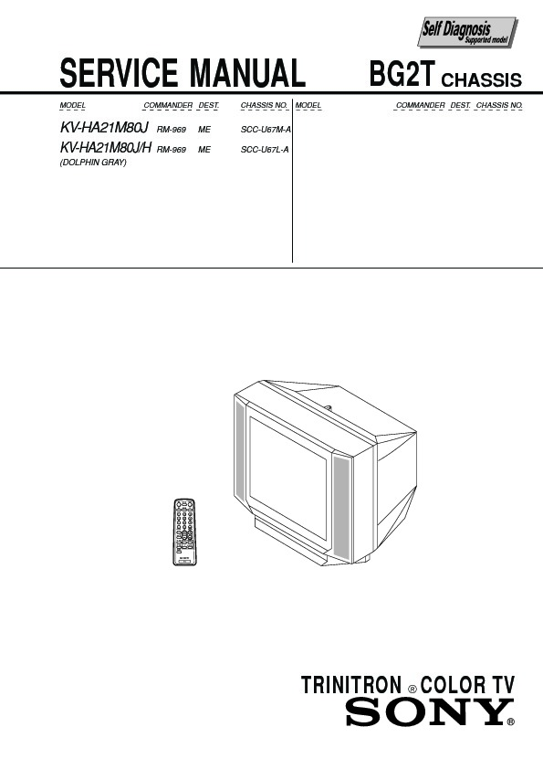 Sony Kv-ha21m80j Service Manual