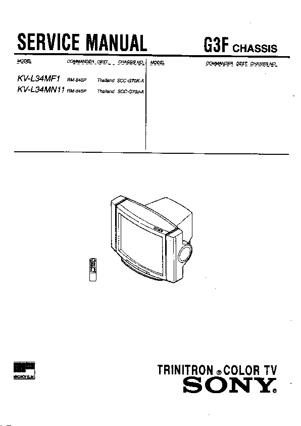 sony kv-l34mf1 service manual