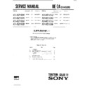 Sony KV-M2100A (serv.man2) Service Manual