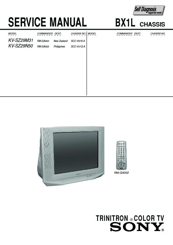 sony kv sz29m31 service manual free download rh servicemanuals us Sony Wega Trinitron 36 Manual Sony Trinitron Television Sets