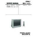 Sony KV-SZ29M31 Service Manual