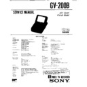 Sony GV-200B Service Manual