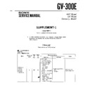 Sony GV-300E (serv.man2) Service Manual