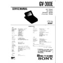 Sony GV-300E Service Manual