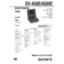 Sony GV-A500 Service Manual