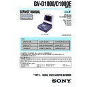 Sony GV-D1000 (serv.man2) Service Manual