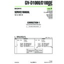 Sony GV-D1000 (serv.man6) Service Manual