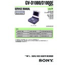 Sony GV-D1000 Service Manual