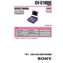 Sony GV-D1000E Service Manual