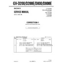 Sony GV-D200 (serv.man4) Service Manual