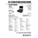 Sony GV-D200 Service Manual