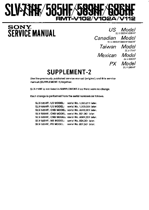 Service manual vcr daily instruction manual guides sony slv 585hf slv 589hf slv 686hf slv 71hf service manual free rh servicemanuals us service manual crate g212 service manual craftsman lawn tractor fandeluxe Image collections