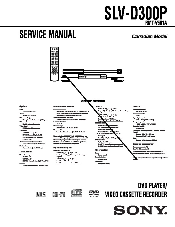 sony slv d300p service manual free download rh servicemanuals us sony slv d300p user manual sony slv-d300p remote control