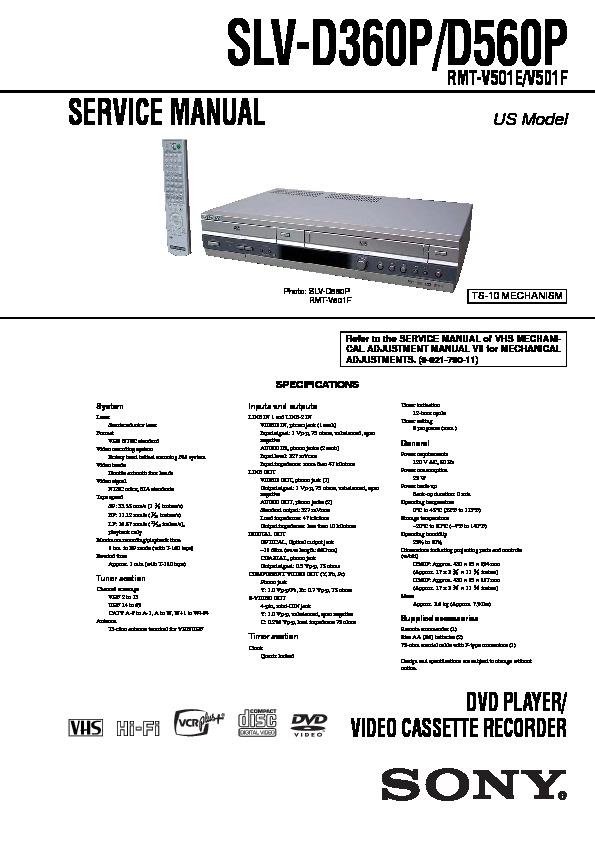 sony slv-d360p  slv-d560p service manual